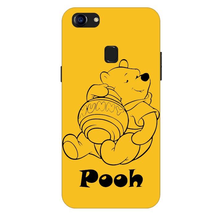 Ốp lưng nhựa cứng nhám dành cho Oppo F5 in hình Pooh