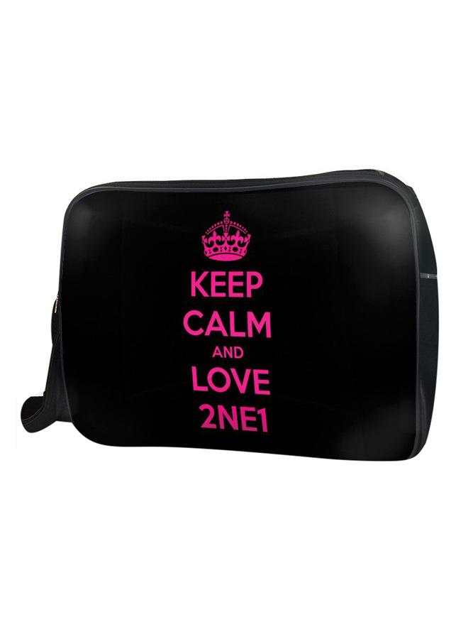 Túi Đeo Chéo Hộp Unisex Keep Calm And Love 2Ne1 - TCKK062