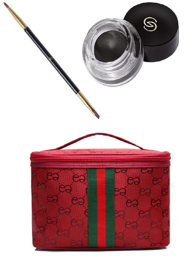 Combo túi đựng mỹ phẩm sọc màu đỏ + dụng cụ kẻ mắt tạo phong cách, chống thấm nước, chống lem - 803788 , 4986463603391 , 62_14115538 , 500000 , Combo-tui-dung-my-pham-soc-mau-do-dung-cu-ke-mat-tao-phong-cach-chong-tham-nuoc-chong-lem-62_14115538 , tiki.vn , Combo túi đựng mỹ phẩm sọc màu đỏ + dụng cụ kẻ mắt tạo phong cách, chống thấm nước, chống lem