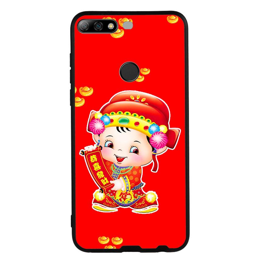 Ốp Lưng Viền TPU cho điện thoại Huawei Y7 Prime 2018 - Thần Tài 05