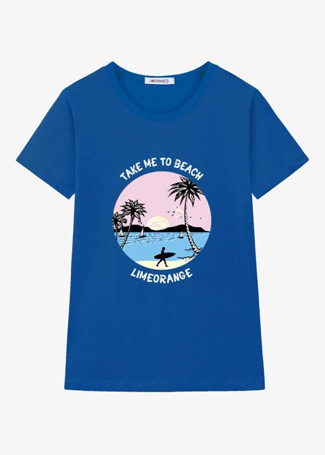 Áo Tay Ngắn Nữ LimeOrange T-shirt -LO19161125-BL (Size S)