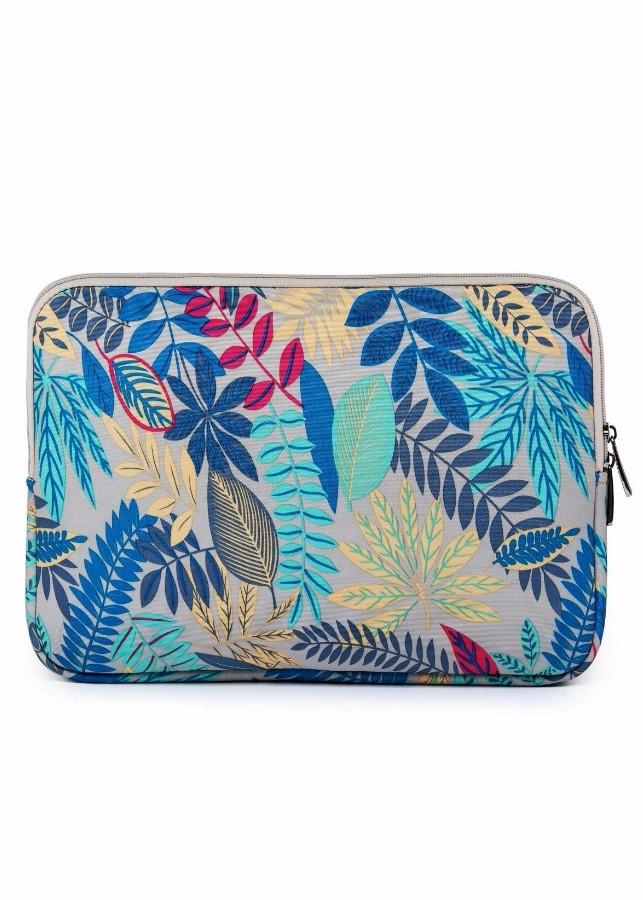 Túi chống sốc Laptop, Ipad, Macbook Floral Xanh Trắng
