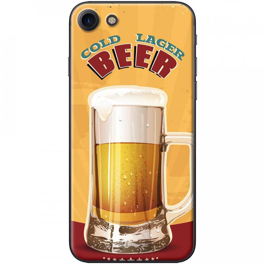 Ốp lưng dành cho iPhone 7 mẫu Ly bia nền vàng