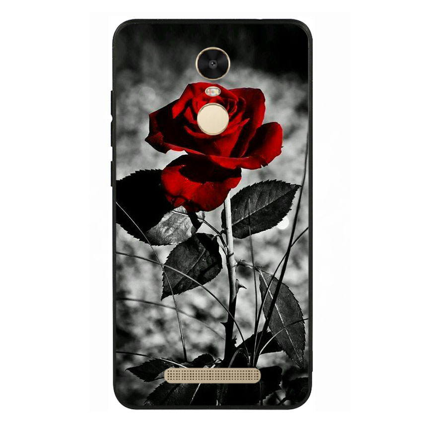 Ốp lưng viền TPU cho điện thoại Xiaomi Redmi Note 3 -Rose 08