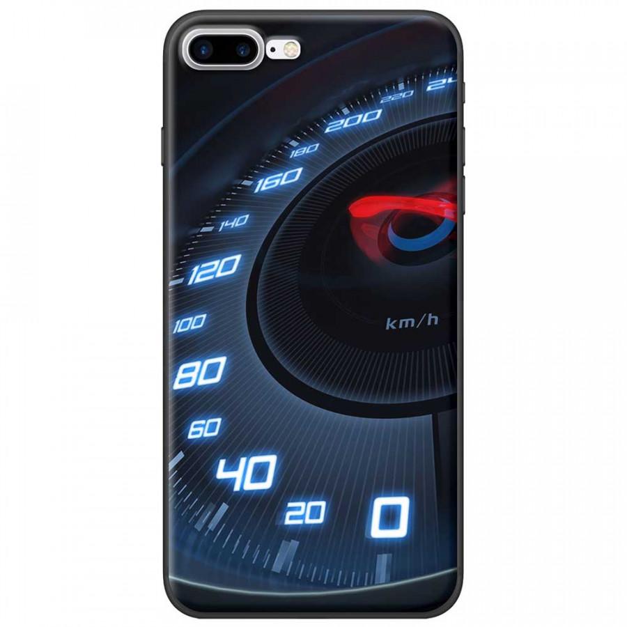 Ốp lưng dành cho iPhone 7 Plus mẫu Đồng hồ tốc độ xanh