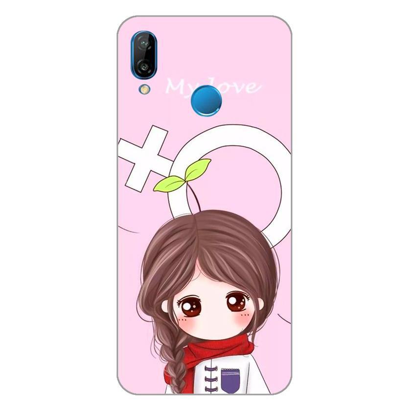 Ốp lưng dẻo cho Huawei Nova 3e_Couple Girl 06