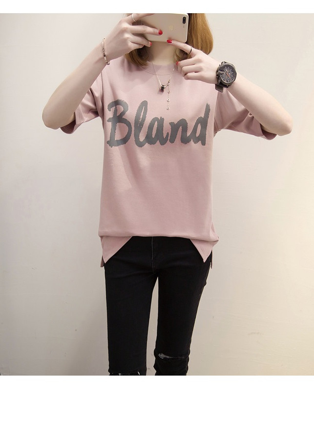 Áo Thun Nữ In Chữ Bland