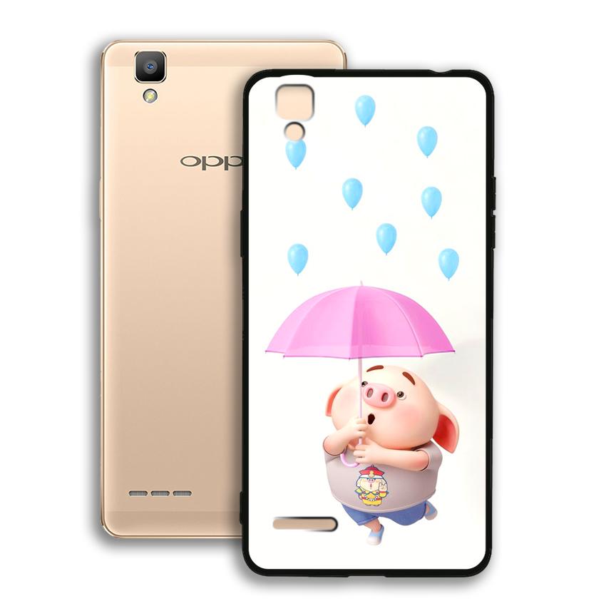 Ốp lưng viền TPU cho điện thoại Oppo F1 - 02056 0523 PIG26 - Hàng Chính Hãng