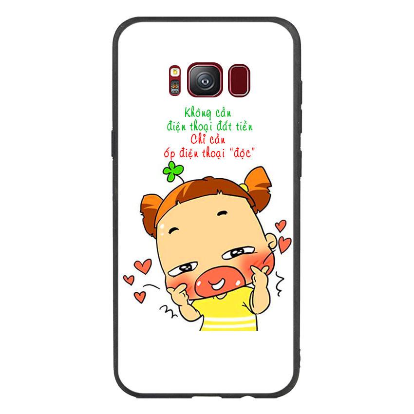 Ốp lưng viền TPU cho điện thoại Samsung Galaxy S8 - Qak
