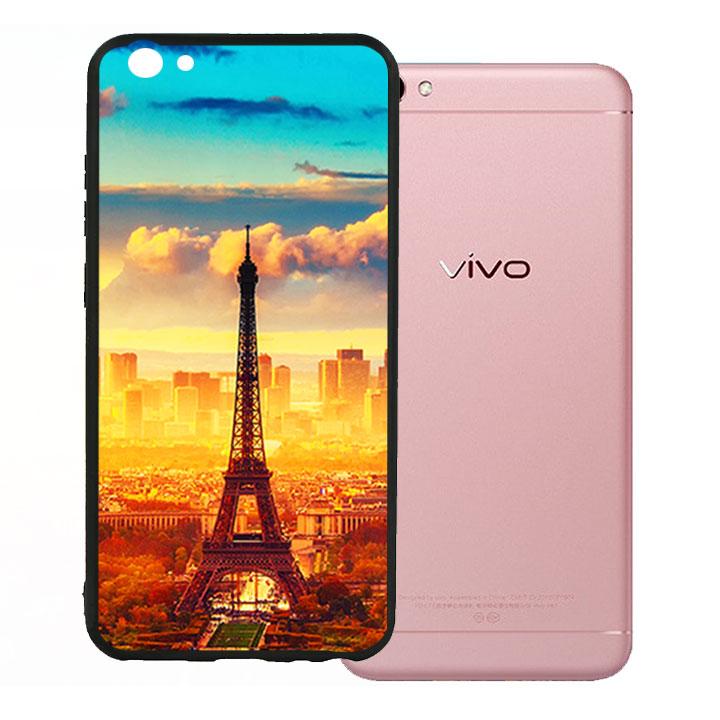 Ốp lưng viền TPU cho Vivo V5 - Paris 01