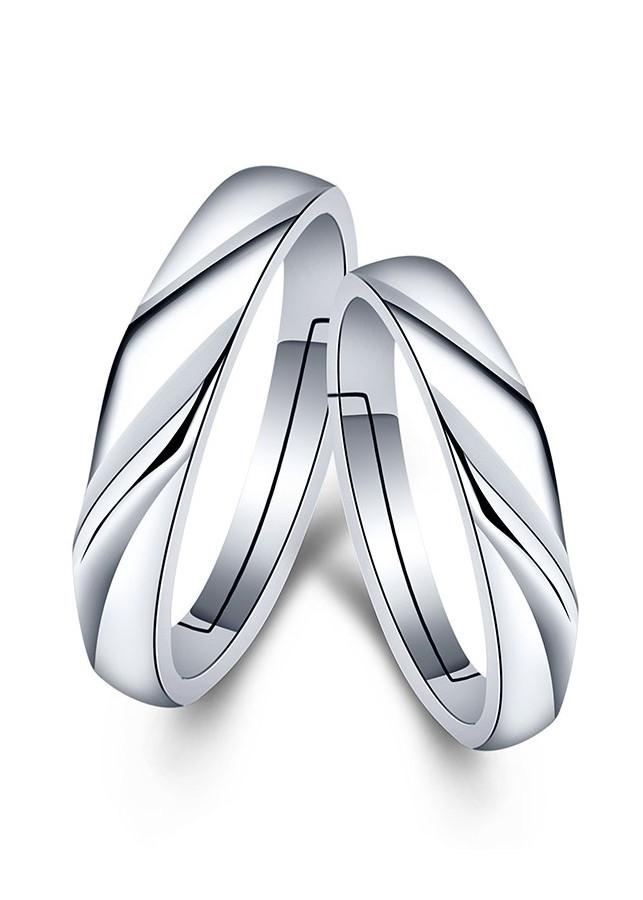 Nhẫn đôi tình nhân Bạc 925 tặng kèm hộp nhung - RC09