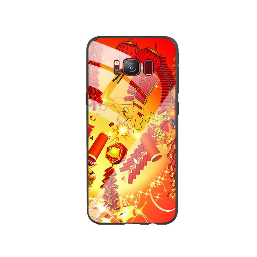 Ốp Lưng Kính Cường Lực cho điện thoại Samsung Galaxy S8 - Firework 02