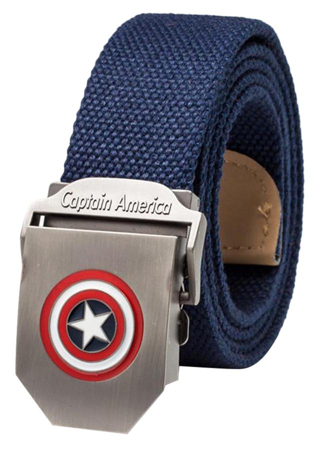 Thắt Lưng Vải Dù Nữ Mặt Khoá Hợp Kim Mặt Captain America - Màu 1