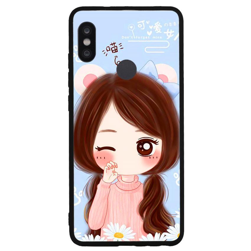 Ốp lưng viền TPU cao cấp cho điện thoại Xiaomi Redmi Note 5 Pro -Baby Girl