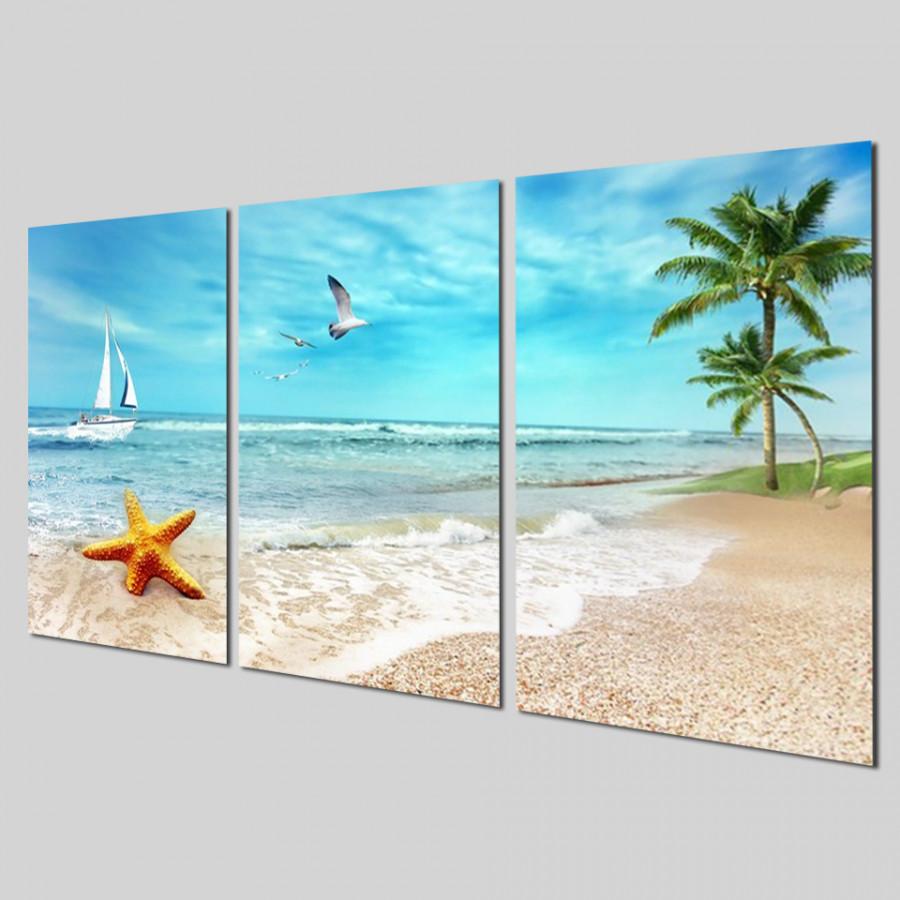 Bộ tranh 3 tấm phong cảnh biển tuyệt đẹp - tranh gỗ treo tường - dạng hình chữ nhật từng tấm - 2148350 , 4567551446436 , 62_13698796 , 2200000 , Bo-tranh-3-tam-phong-canh-bien-tuyet-dep-tranh-go-treo-tuong-dang-hinh-chu-nhat-tung-tam-62_13698796 , tiki.vn , Bộ tranh 3 tấm phong cảnh biển tuyệt đẹp - tranh gỗ treo tường - dạng hình chữ nhật từn