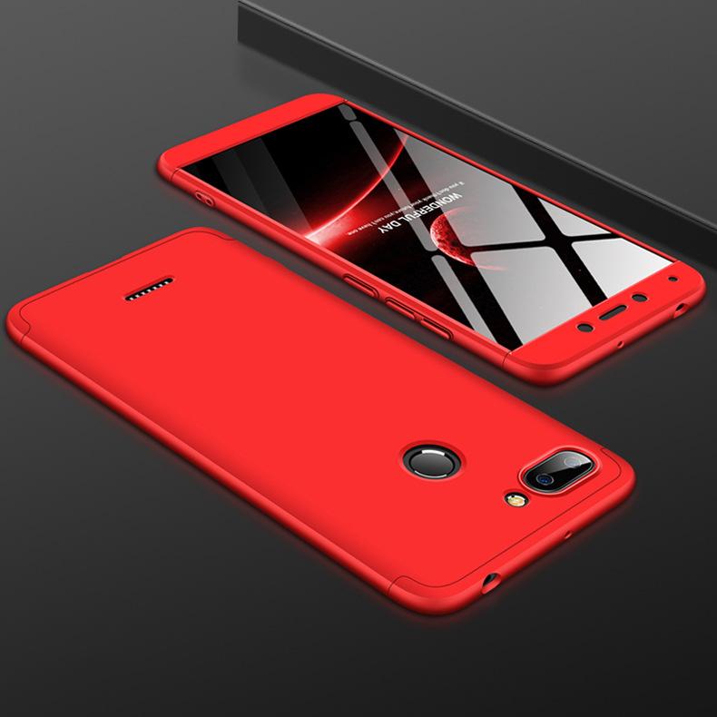 Ốp Lưng cho máy Xiaomi Redmi 6 GKK 360 Độ (3 mảnh) - Viền Màu, Full Màu