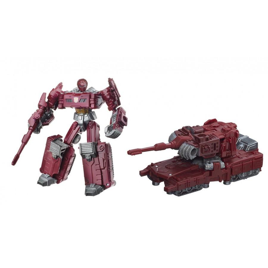 Mô hình Robot màu nâu lắp ráp thành xe tăng