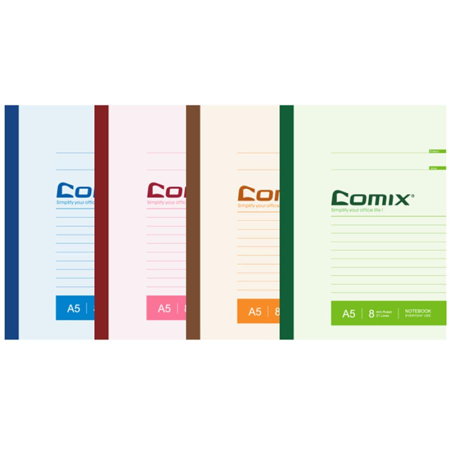 Lốc 6 Cuốn Vở A5 COMIX C4801(80 Trang)