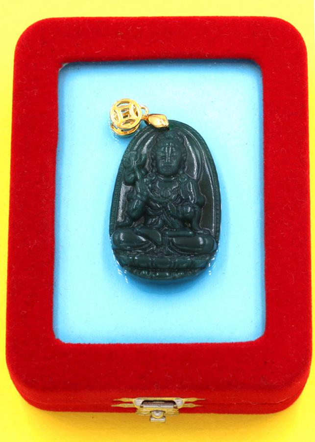 Mặt Phật Đại Thế Chí đá cẩm thạch 3.6 cm kèm hộp nhung