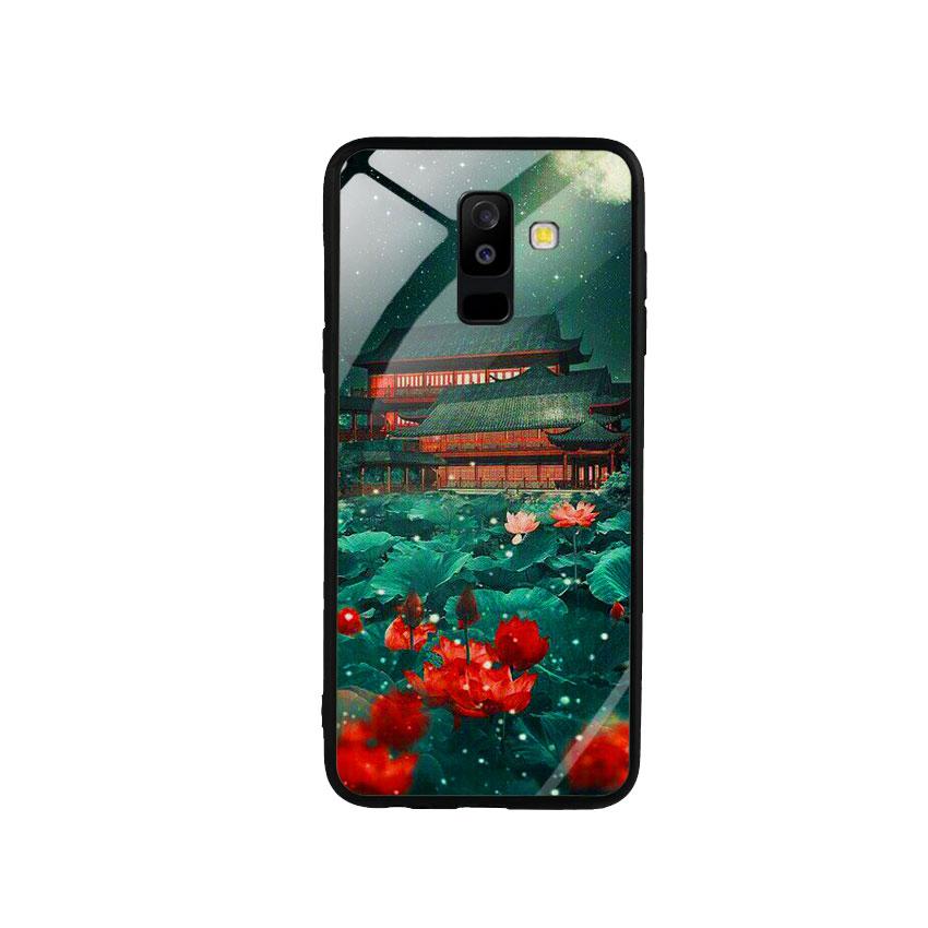 Ốp Lưng Kính Cường Lực cho điện thoại Samsung Galaxy A6 Plus 2018 - Thủy Mặc