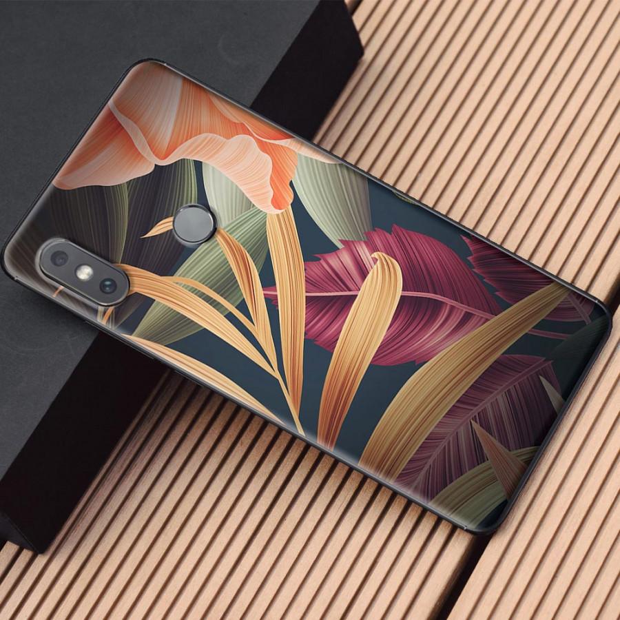 Ốp lưng dành cho Xiaomi Mi Mix 2S mẫu Hoa lá vàng cam