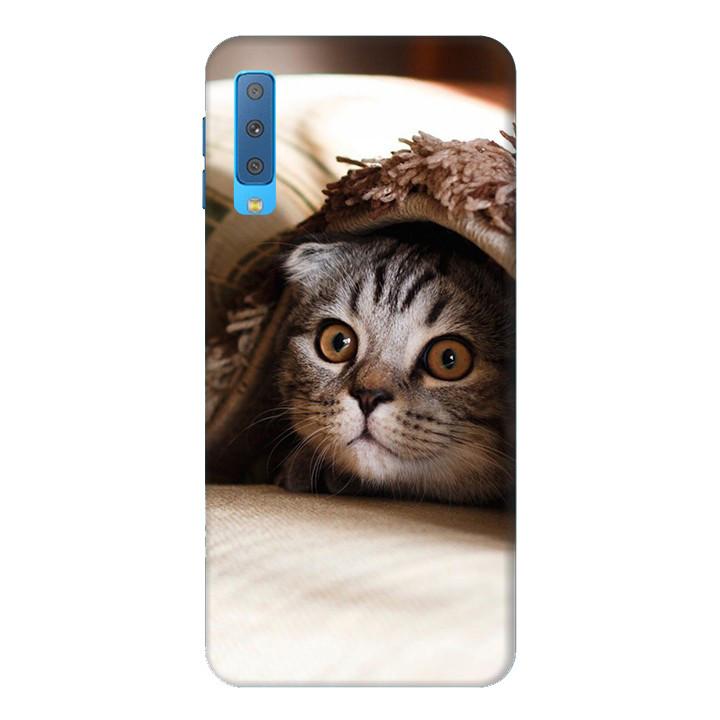 Ốp Lưng Dành Cho Điện Thoại Samsung Galaxy A7 2018 Mèo Dễ Thương Mẫu 1