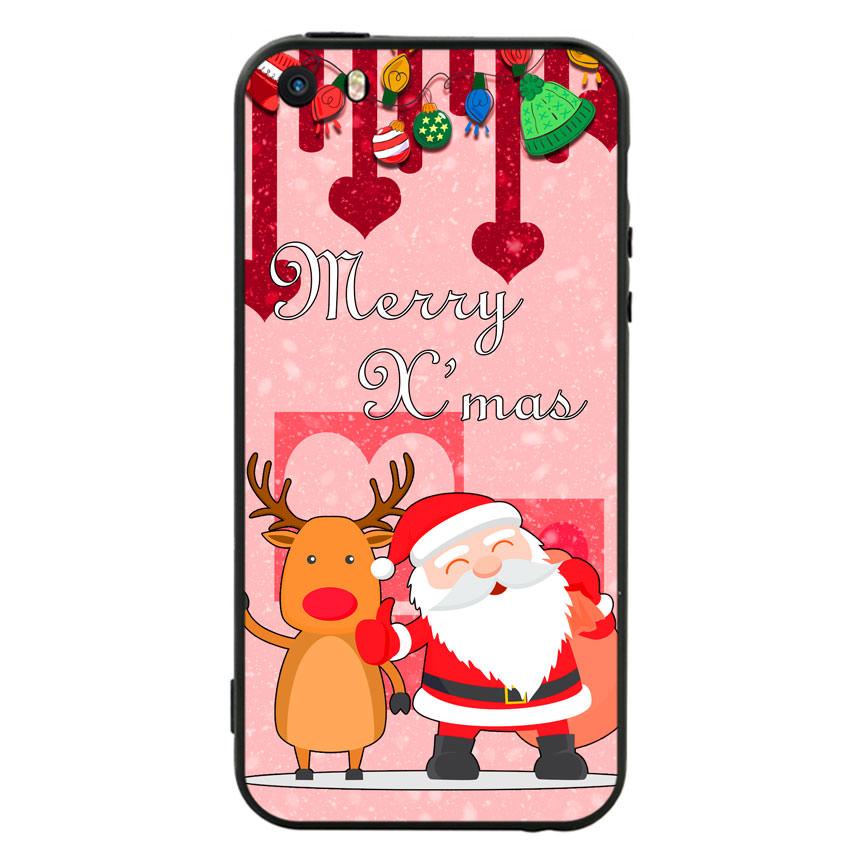 Ốp lưng viền TPU cho điện thoại Iphone 5 - Xmas 04