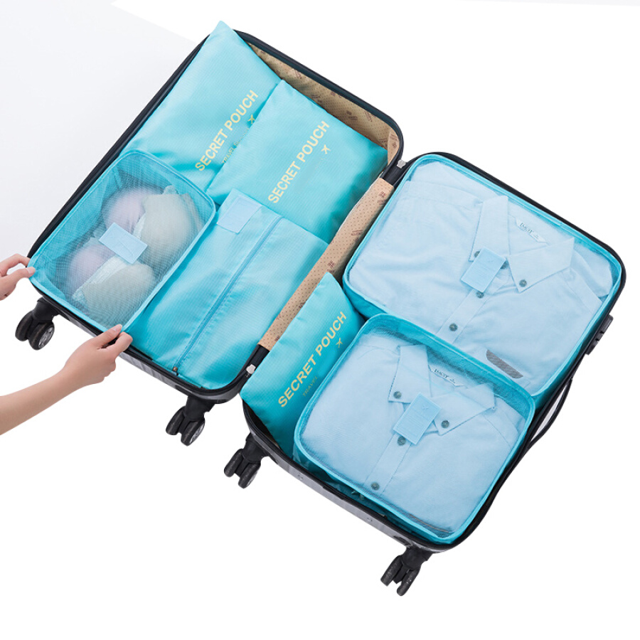 Dias Bartholmeu Dias waterproof travel storage bag trunk finishing bag underwear storage 7 piece set finishing bag blue
