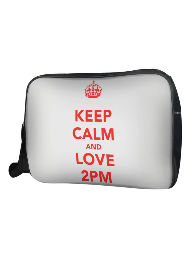 Túi Đeo Chéo Hộp Unisex Keep Calm And Love 2Pm - TCKK064