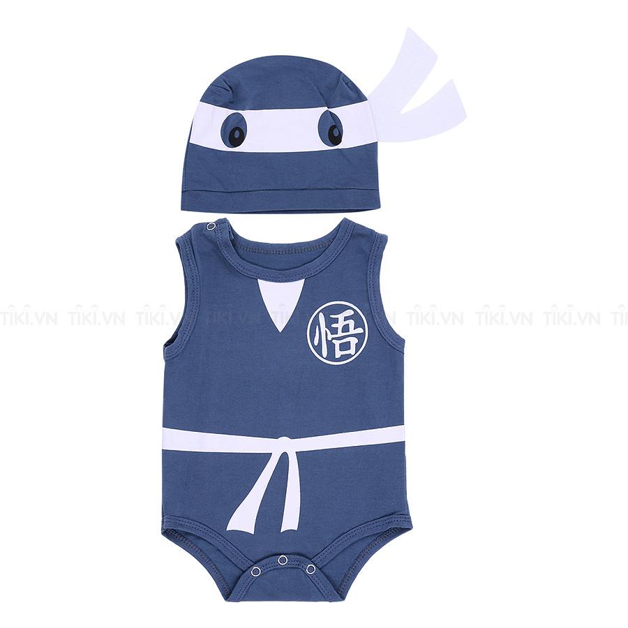 Bộ Bodysuit Chip Nón In Hình Ninja - MihaBaby - BDS10_NINJA