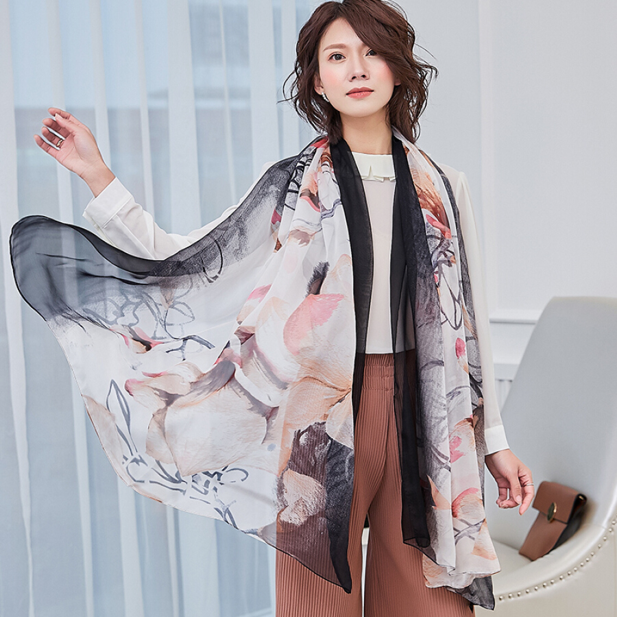 Lan Shiyu W0901 ladies chiffon silk scarves long scarf women