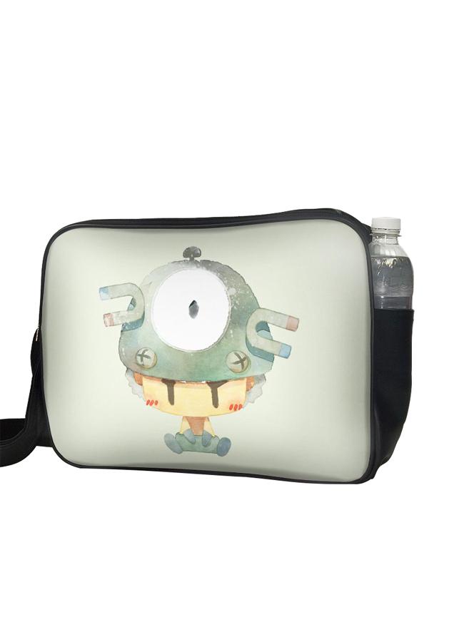 Túi Đeo Chéo Hộp Unisex In Hình Bé Trai Nón Pokemon Xám - TCCP533