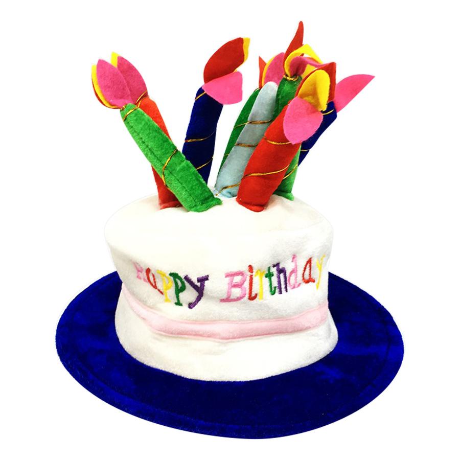 Nón Happy Birthday Nến Nhiều Màu (Viền Xanh Dương, Viền Đỏ, Viền Vàng Cam) (Màu Ngẫu Nhiên)
