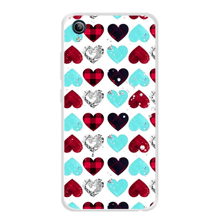 Ốp lưng dẻo cho điện thoại Vivo Y91C - 0099 HEART07 - Hàng Chính Hãng