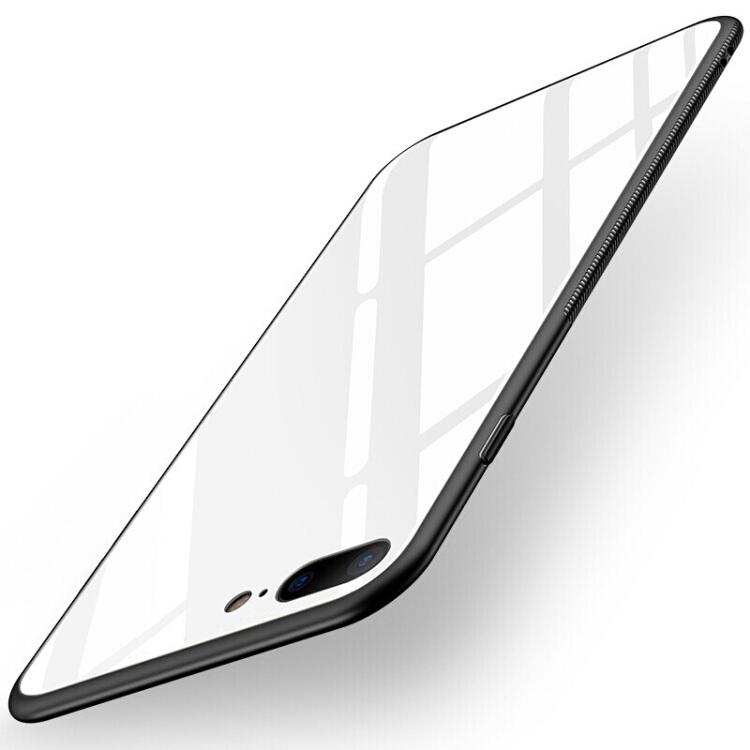 Ốp Lưng Kính Viền Mềm Cho Iphone 7/8 Plus Stryfer