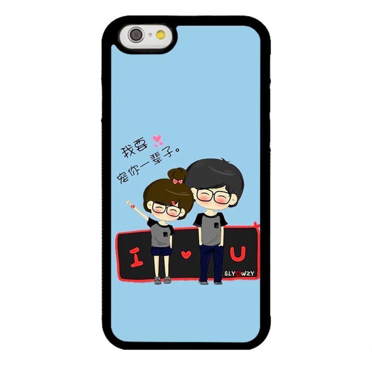 Ốp lưng dành cho điện thoại Iphone 6s Anime Couple LOVE