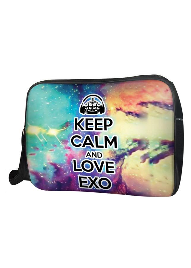Túi Đeo Chéo Hộp Unisex Keep Calm And Love Exo - TCKK036