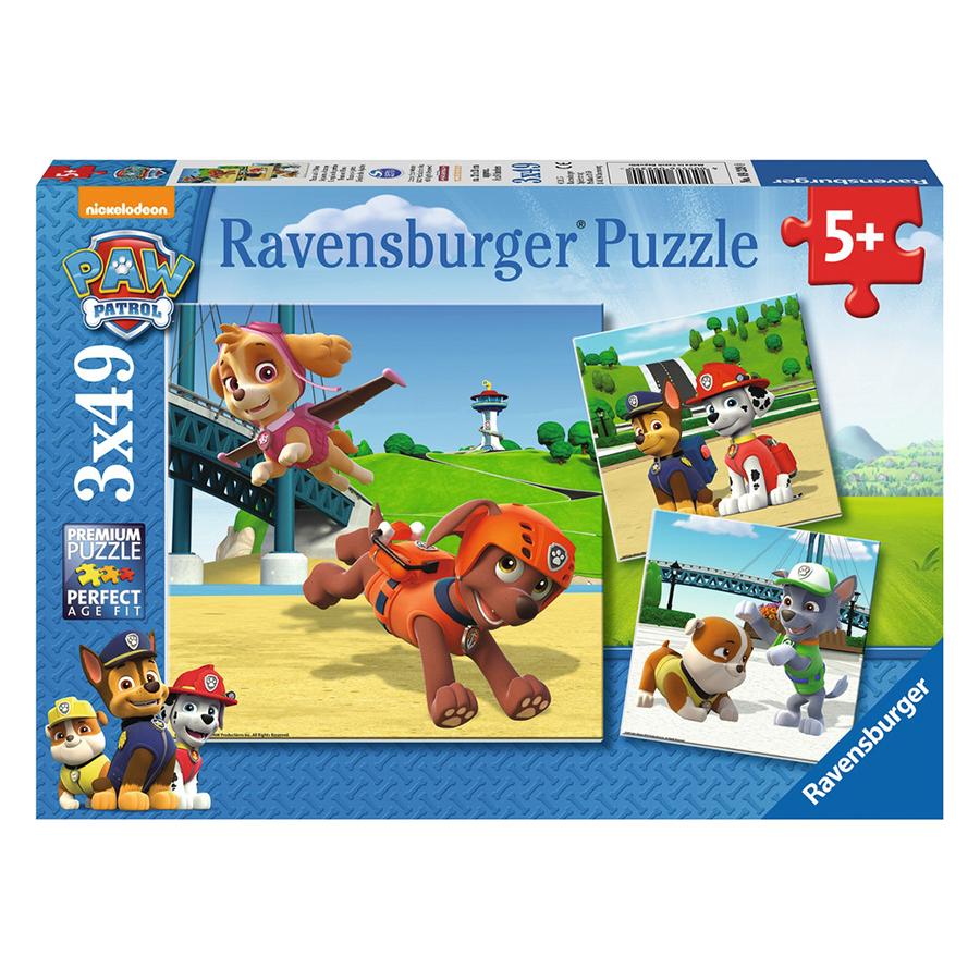 Xếp Hình Puzzle Paw Patrol 3 Bộ 49 Mảnh Ravensburger RV09239 0