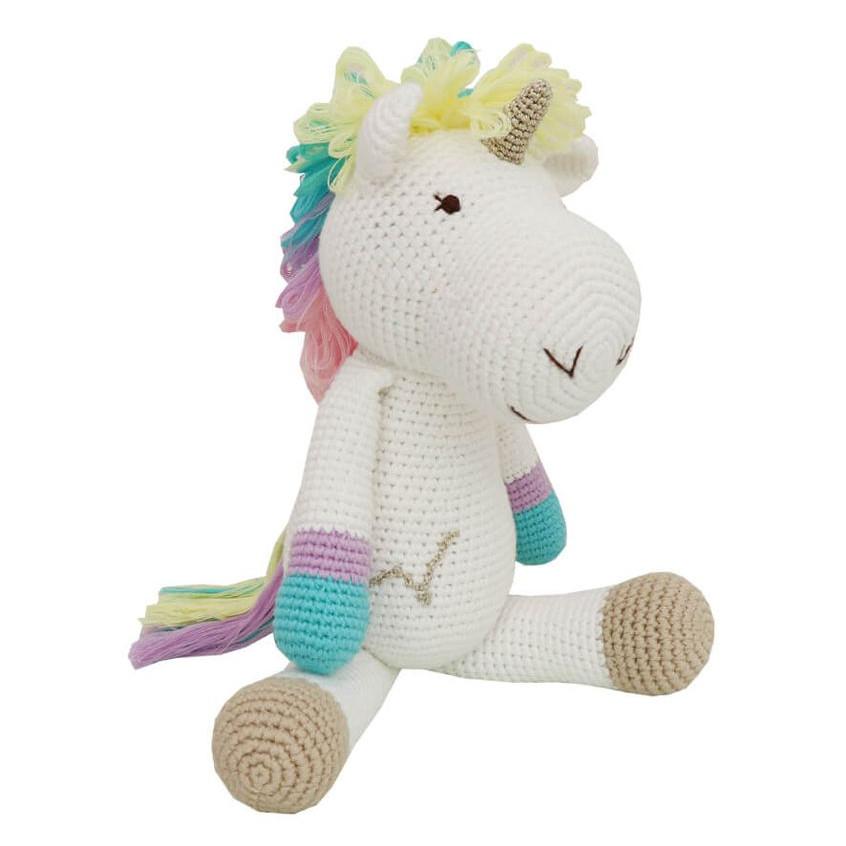 Rainbow Unicorn nhỏ - Thú len Handmade Wowlen