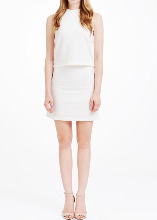 Chân váy nữ The Cosmo LENNA SKIRT (WHITE)  TC2006041WH - màu trắng