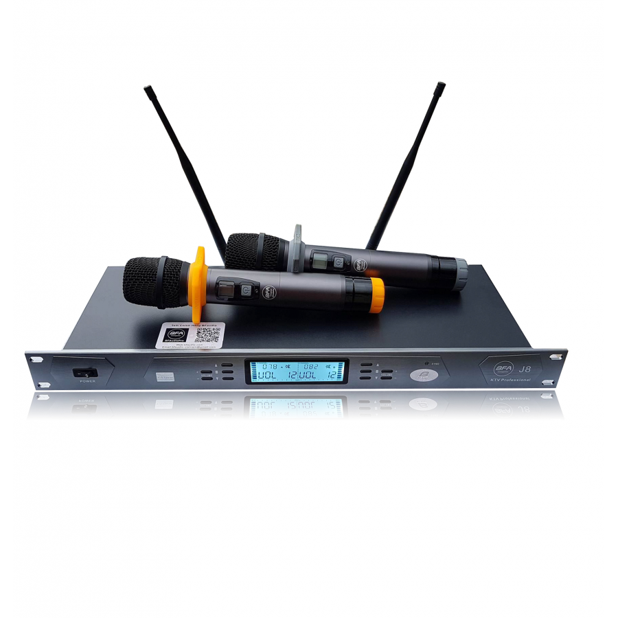 Micro Karaoke Không Dây Sóng UHF BFAUDIO J8