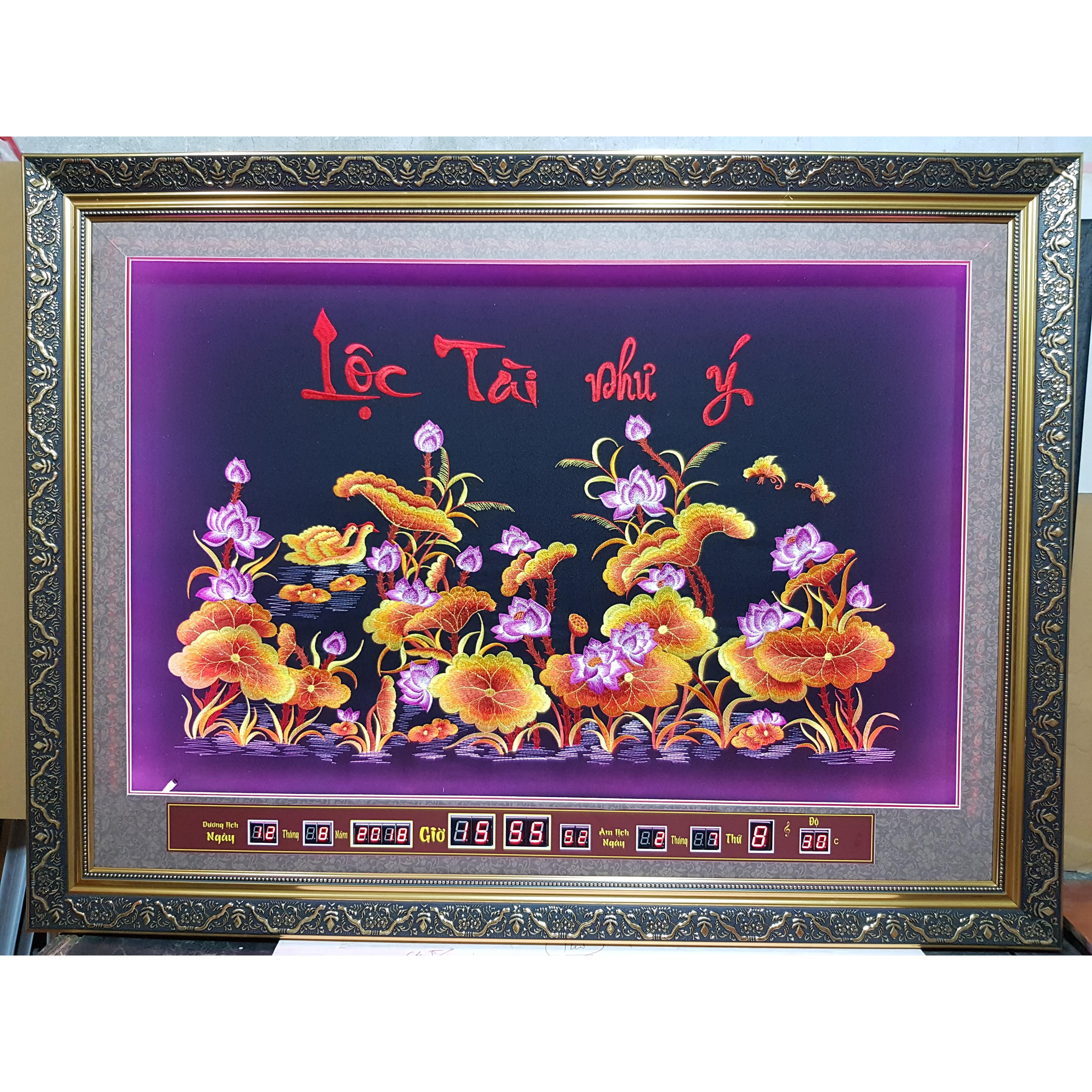 Tranh thêu sen vàng gắn đèn led + lịch vạn niên -2079 - 15608552 , 7279602029723 , 62_25888045 , 3900000 , Tranh-theu-sen-vang-gan-den-led-lich-van-nien-2079-62_25888045 , tiki.vn , Tranh thêu sen vàng gắn đèn led + lịch vạn niên -2079