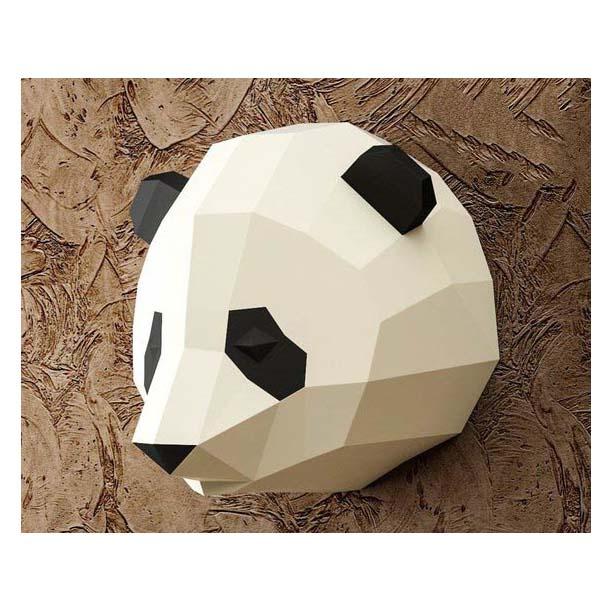 Mô hình giấy 3D   Mô hình trang trí nhà cửa   Mô hình giấy 3D Gấu trúc