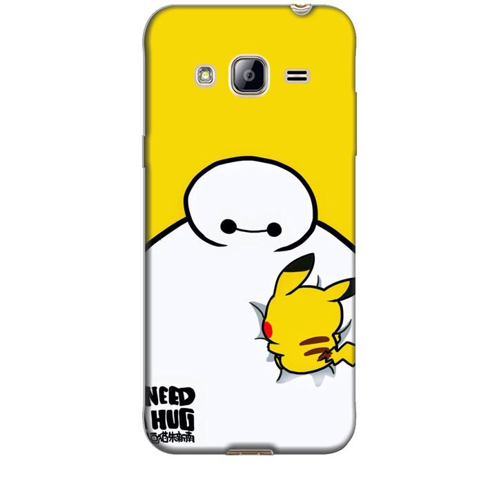 Ốp lưng dành cho điện thoại  SAMSUNG GALAXY J3 2016 hinh Big Hero Pikachu