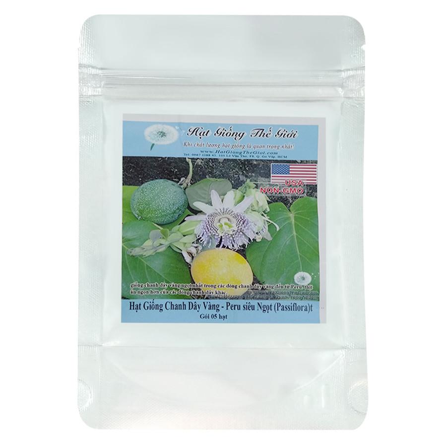 Hạt Giống Chanh Dây Vàng - Peru siêu Ngọt - Passiflora (5 Hạt)