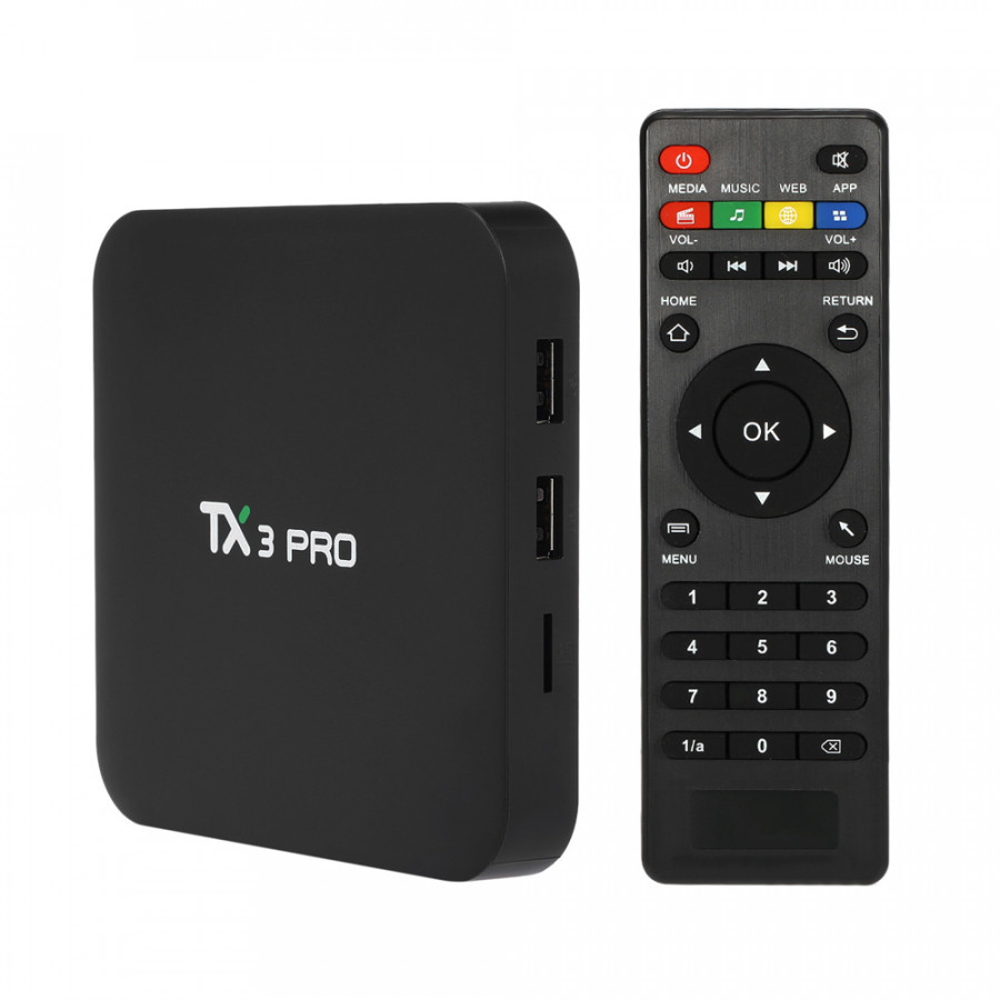 TX3 PRO S905W Quad Core Android 7.1 Smart TV Box WiFi 4K HD Media Streaming - Black - 2158865 , 3252260323451 , 62_13796017 , 823000 , TX3-PRO-S905W-Quad-Core-Android-7.1-Smart-TV-Box-WiFi-4K-HD-Media-Streaming-Black-62_13796017 , tiki.vn , TX3 PRO S905W Quad Core Android 7.1 Smart TV Box WiFi 4K HD Media Streaming - Black