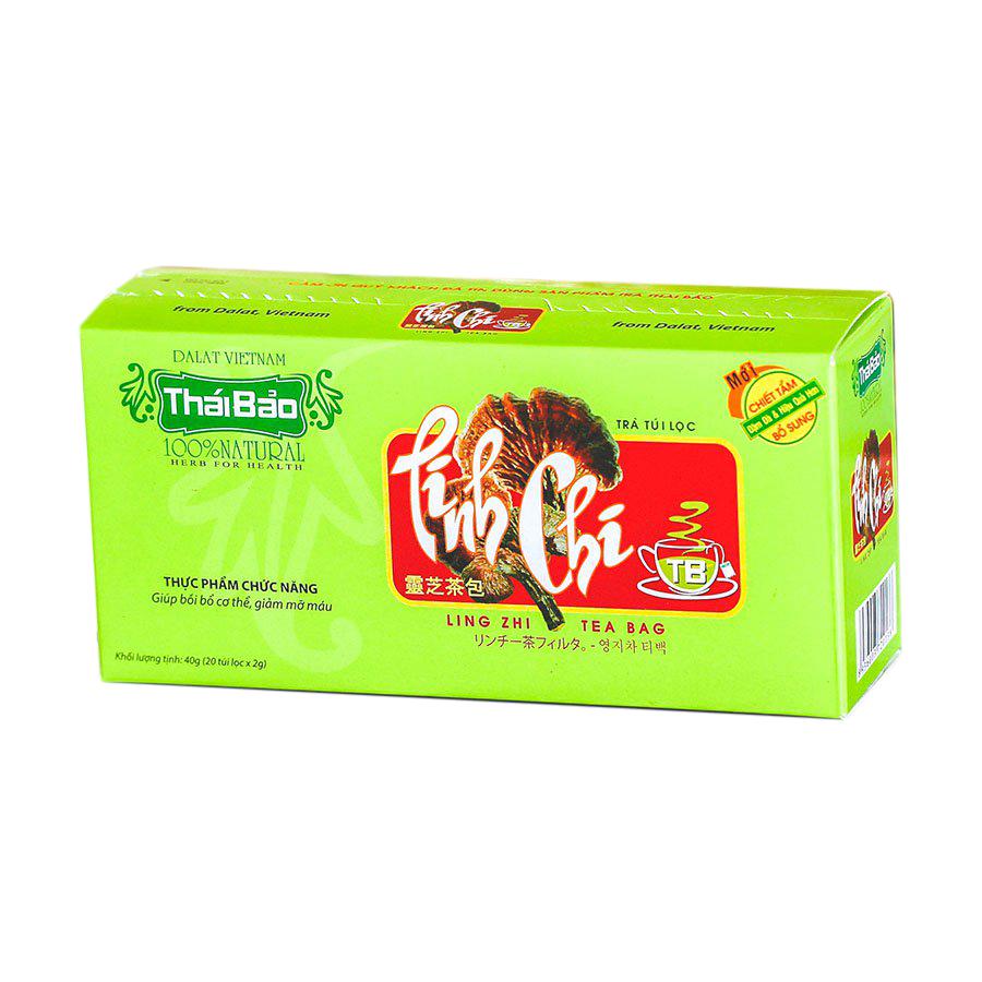 Hộp Trà Linh Chi Túi Lọc Thái Bảo mẫu xanh (20 Tép x 2g)