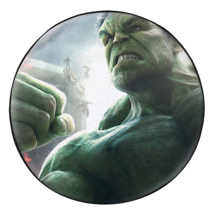Gối Ôm Tròn In Hình Hulk - Khổng Lồ Xanh - GOFF282