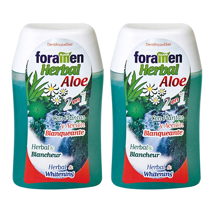 Foramen 2 in 1 Toothpaste  Mouthwash. Herbal Aloe (100ml) 2pcs - 7443436 , 4521466134987 , 62_15598308 , 929000 , Foramen-2-in-1-Toothpaste-Mouthwash.-Herbal-Aloe-100ml-2pcs-62_15598308 , tiki.vn , Foramen 2 in 1 Toothpaste  Mouthwash. Herbal Aloe (100ml) 2pcs