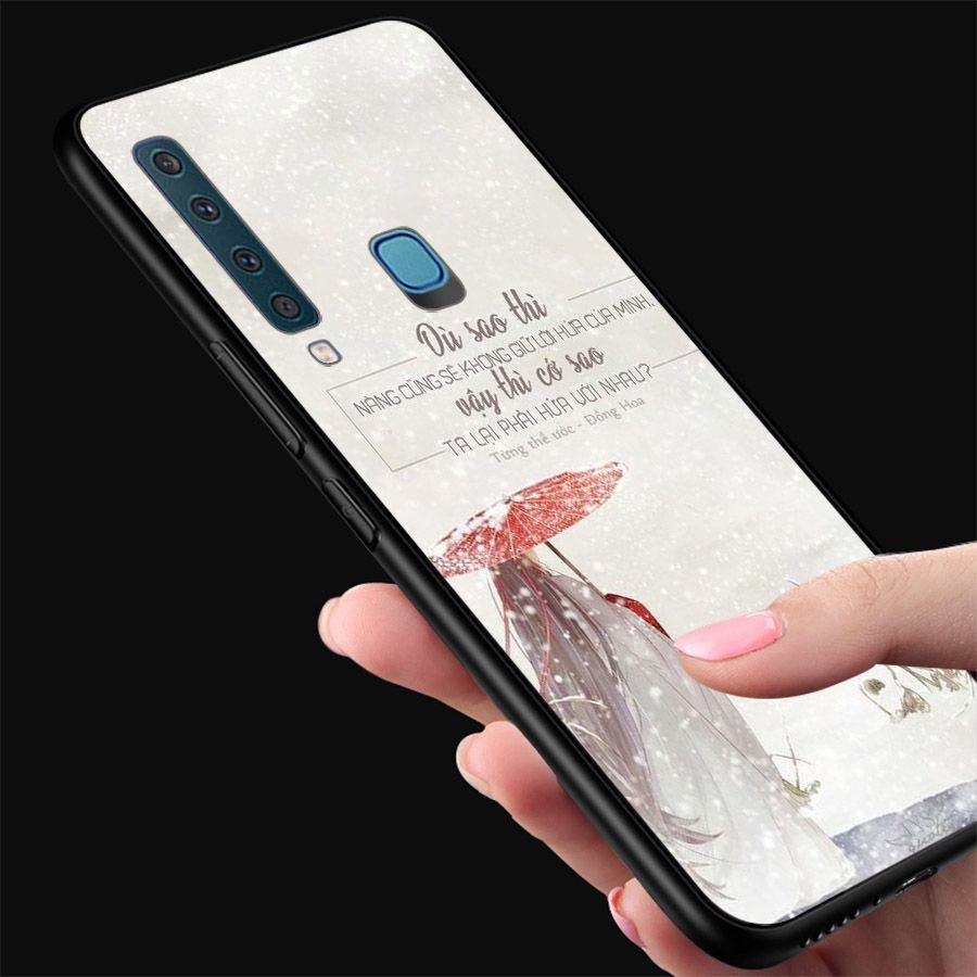 Ốp kính cường lực dành cho điện thoại Samsung Galaxy A9 2018/A9 Pro - M20 - ngôn tình tâm trạng - tinh2130
